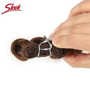 Image 5 - Sleek Colorful Hair Ombre Bundles Piano P4/30 Brazilian Hair Weave Bundles Glam Short 3PCS Curly Remy Human Hair Extensions