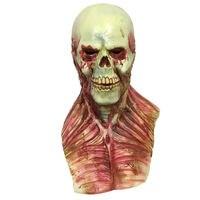 Máscara de Látex Diabo Assustador Horrible Zombie Sangue Realista Monstro Crânio Facial Máscara Festa de Halloween Máscaras Cosplay Adereços Suprimentos