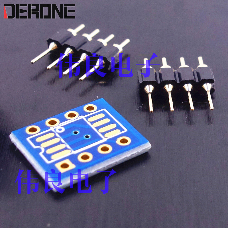 10 piece  PCB of Patch op amp change to Plug-in op amp  with 8 pin