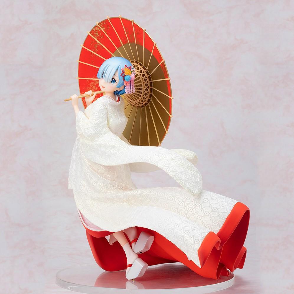 Dessin animé mignon Re: la vie dans un monde différent de zéro Rem Kimono Ver. Figurine en PVC à collectionner modèle jouets poupée 28cm