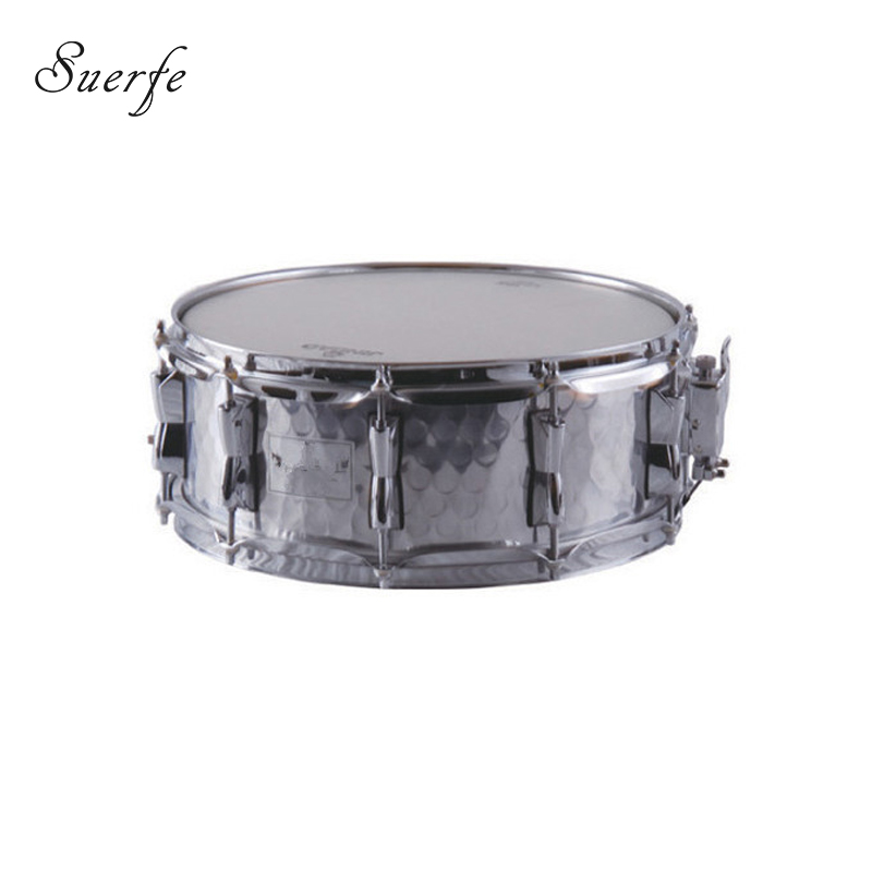 suerte 14 5 5 size snare drum polyester drumhead hammered stainless steel percussion drum. Black Bedroom Furniture Sets. Home Design Ideas