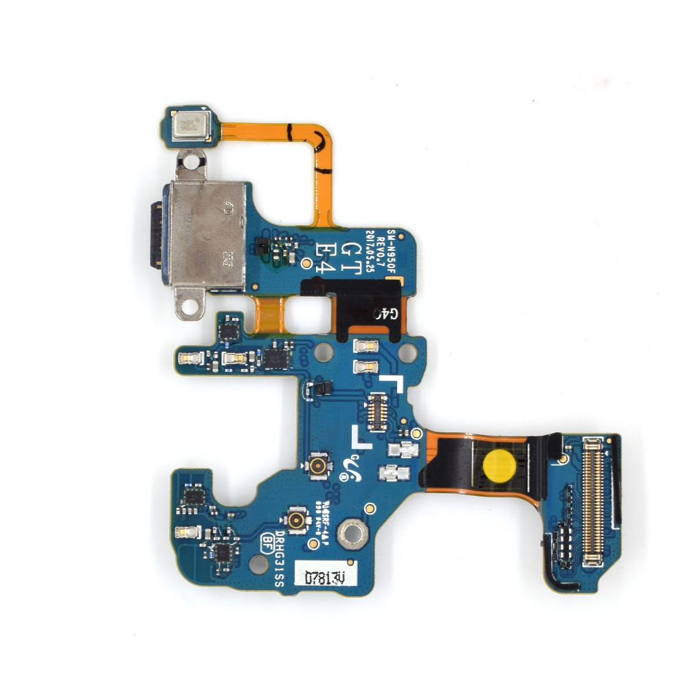 <font><b>Cell</b></font> <font><b>Phone</b></font> Replacement Part for Samsung Galaxy Note8 N950F Charging Port Plug Flex Cable + <font><b>Microphone</b></font>