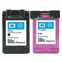 2 Pcs Ink Cartridge for HP 300 300XL Black Tricolor for HP Deskjet D1660 D2560 D2660 D5560 F2420 F2480 F2492 F4210 Printers