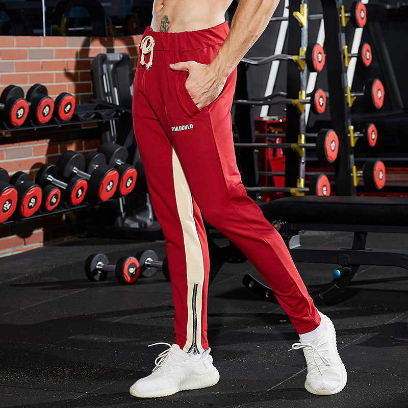 2311402e37e9f ... Mens Gym Pants Striped Run Jogging Pants Men Rashgard Fitness Training Running  Pants Bodybuilding Trousers Cotton ...