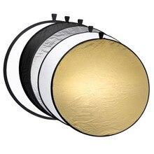 Портативный складной светильник Gosear 60 см, Круглый отражатель для фотостудии, аксессуары для видеосъемки