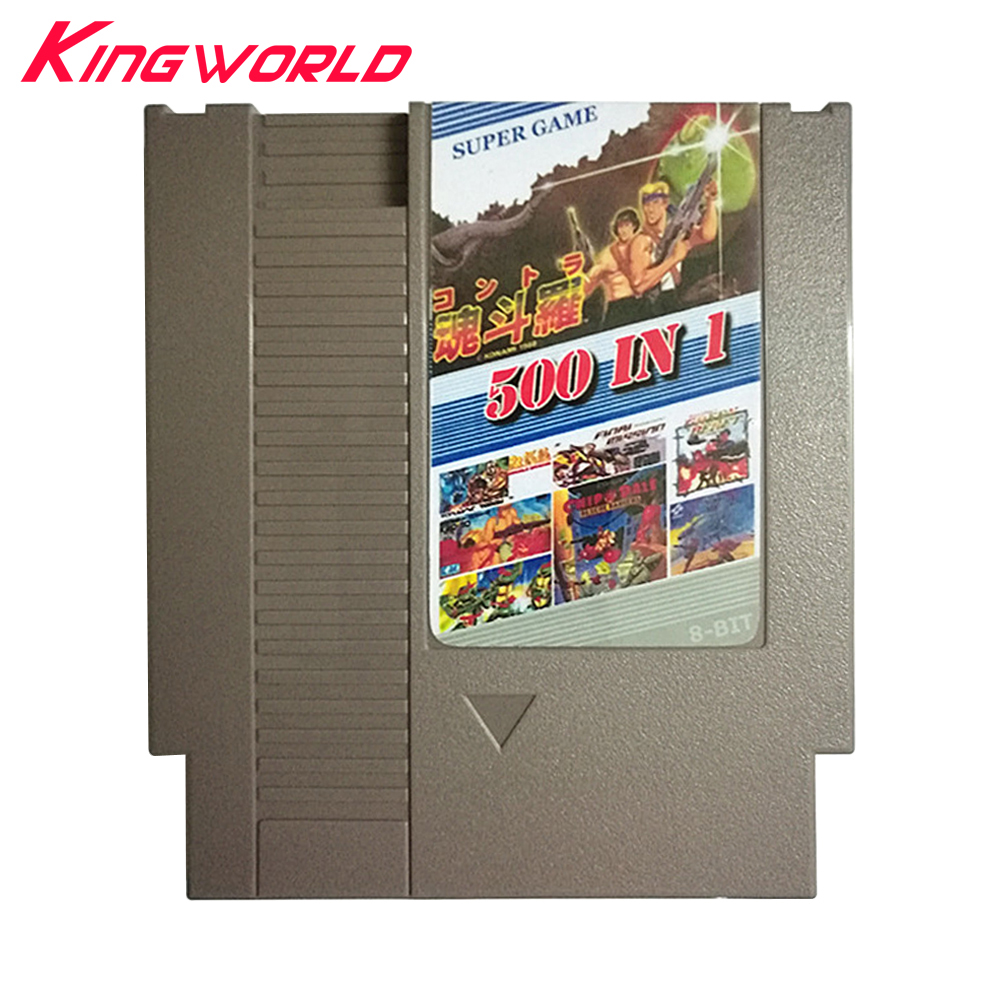 500 in 1 Game Card 72 Pins 8 bit For NES Game Cartridge Replacement Plastic Shell with Free Dust Sleeve
