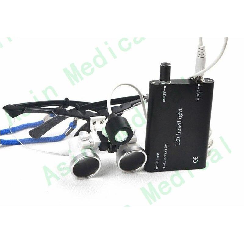 3.5X 420mm Surgical Medical Binocular Dental Loupes Optical Glass+LED Headlight DEASIN 2018 стоимость