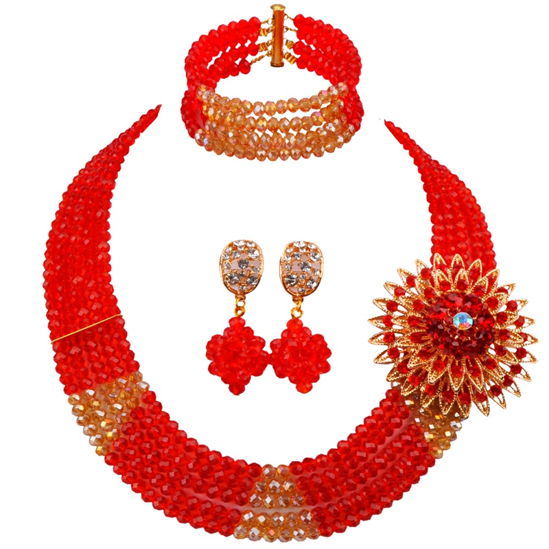 on Sale Best-selling Red Champagne Gold AB African Folk Style Beads Necklace Crystal Engagement Jewelry Sets 5C-SJ-14on Sale Best-selling Red Champagne Gold AB African Folk Style Beads Necklace Crystal Engagement Jewelry Sets 5C-SJ-14