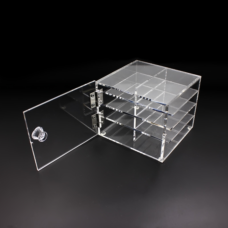 8 Layers / 6 Layers Plastic Eyelash Storage Box Transparent Makeup Display Container Eyelash Extensions Glue Pallet Holders Case