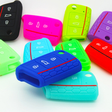 Dewtreetali 5 color silicone key protect cover case skin for  VW Polo 2017 golf 7 MK7 for Skoda Octavia combi A7