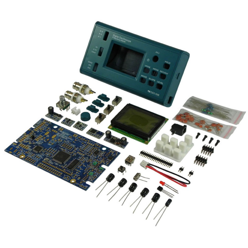 DSO068 Oscilloscope Digital Storage Oscilloscope DIY Kit Disassembled Parts with LCD 20MHz Probe Teaching SetDSO068 Oscilloscope Digital Storage Oscilloscope DIY Kit Disassembled Parts with LCD 20MHz Probe Teaching Set