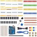 Starter Kit para Ar-duino com Resistor/LED/Capacitor/Fios Jumper/Breadboard resistor Kit