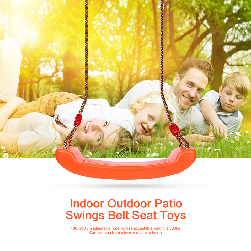 Children Indoor Outdoor Patio Swings Belt Seat Toys Plastic Garden Tree Swing Rope Seat Molded Kids Hanging Playground Swing Toy children toy swing outdoor indoor wood ladder rope playground games for kids climbing rope swing wooden 5 rungs pe rope