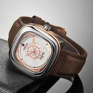 Image 2 - 2020 นาฬิกาสุดหรูผู้ชายนาฬิกาแฟชั่นควอตซ์นาฬิกายี่ห้อKADEMAN Casualหนังนาฬิกาข้อมือRelogio Masculino