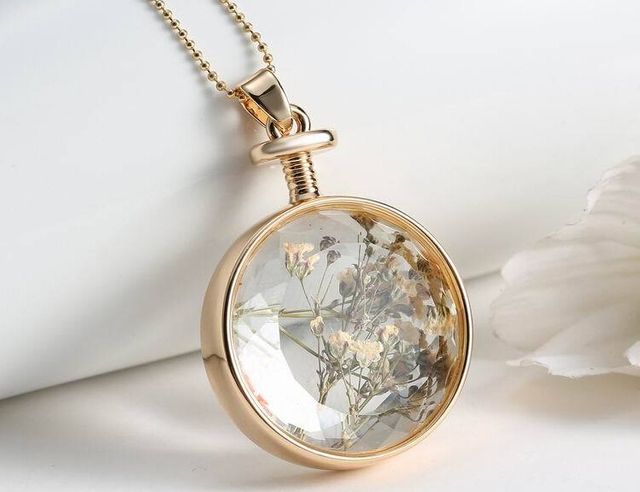 Diy pendant necklace jewelry time necklace dried flowers glass diy pendant necklace jewelry time necklace dried flowers glass necklace box frame crystal perfume bottles ypq0190 aloadofball Images
