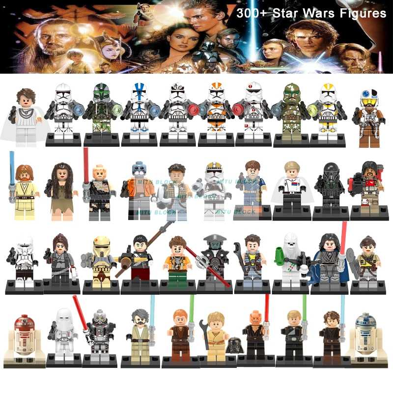 Master Yoda Legoelys Star Wars Figure Luke Skywalker, Han Solo Darth Maul Mainan untuk Anak Starwars Clone Trooper Blok