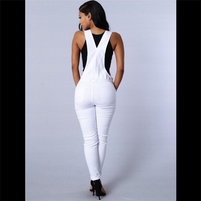 fc06d6d50975 Earoomze 2018 Fashion Women s Skinny Bib Overalls Jeans Chic Design ...