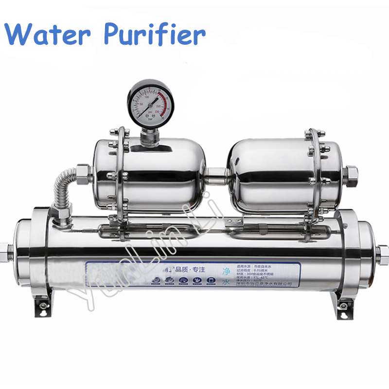 1000L/H Water Purifier Water Treatment Stainless Steel Water Filter Durable with Water Pressure Meter Sterilization YXQ-1000C 500l h kitchen water filter machine with 304 stainless steel shell and food grade ultrafiltration membrane for water treatment