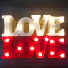 LOVE 3D Night Light LED Standing Lamp Marquee Letter Lights Luminaria Children Toys Home Party Wedding Decoration