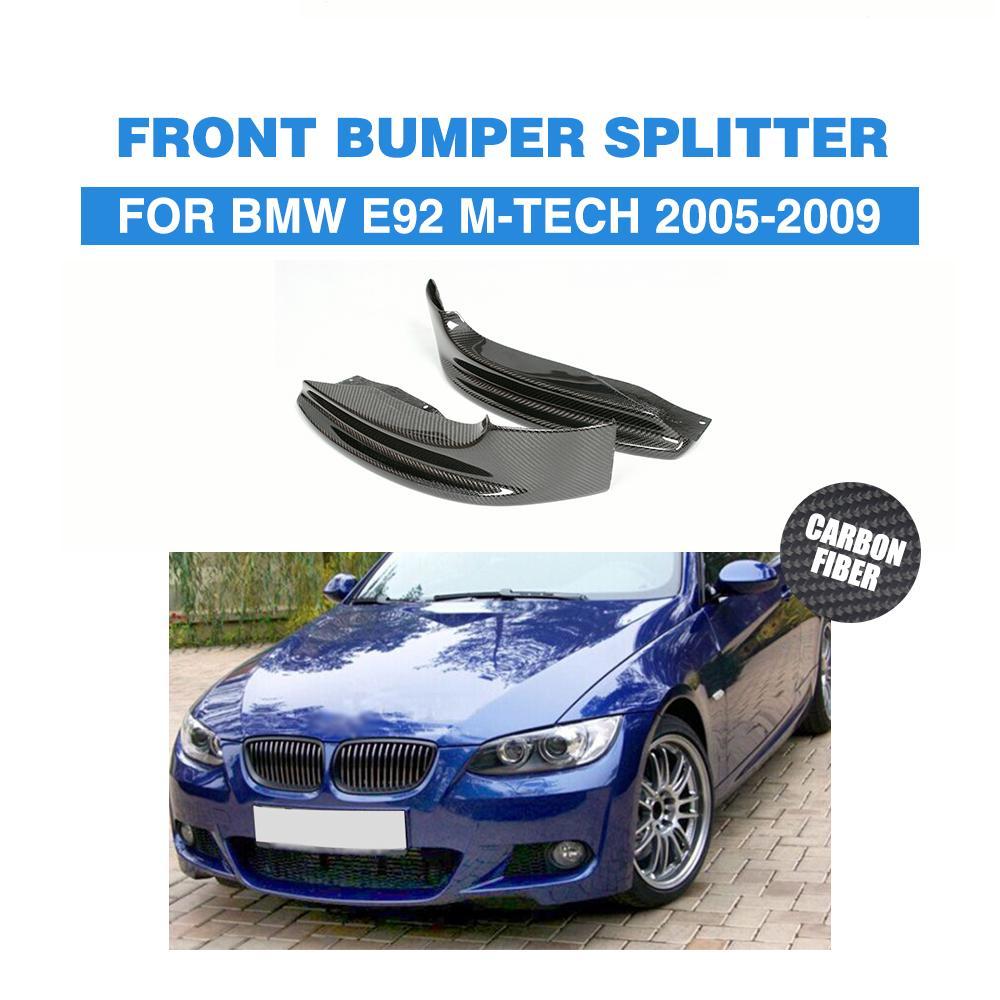 Carbon Auto Front Bumper Lip Splitters Aprons For BMW 3 Series 325i 328i E92 M Tech M Sport Bumper Only 2005-2009