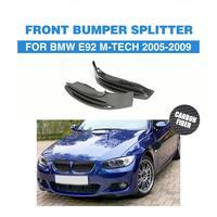 Carbon Auto Front Bumper Lip Splitters Aprons For BMW 3 Series 325i 328i E92 M Tech M Sport Bumper Only 2005 2009