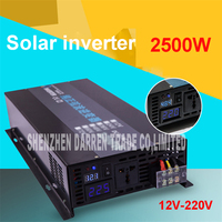 LED display Off grid solar inverter RB 2500S 12/24/48VDC to 110/220VAC 2500 W nominal sinusoidal Pure Wave Power Inverter