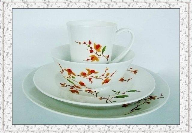 dinnerware set tableware 4pcs/lot High quality Porcelain , a DINNER PLATE,a SALAD ,DISH a SOUP BOWL AND a MUG