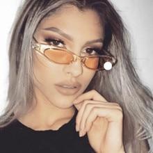 Vintage Women Small Oval  Sunglasses Cat eye Eyewear Brand Designer Retro Tiny Sunglass Female Sun glasses Goggles