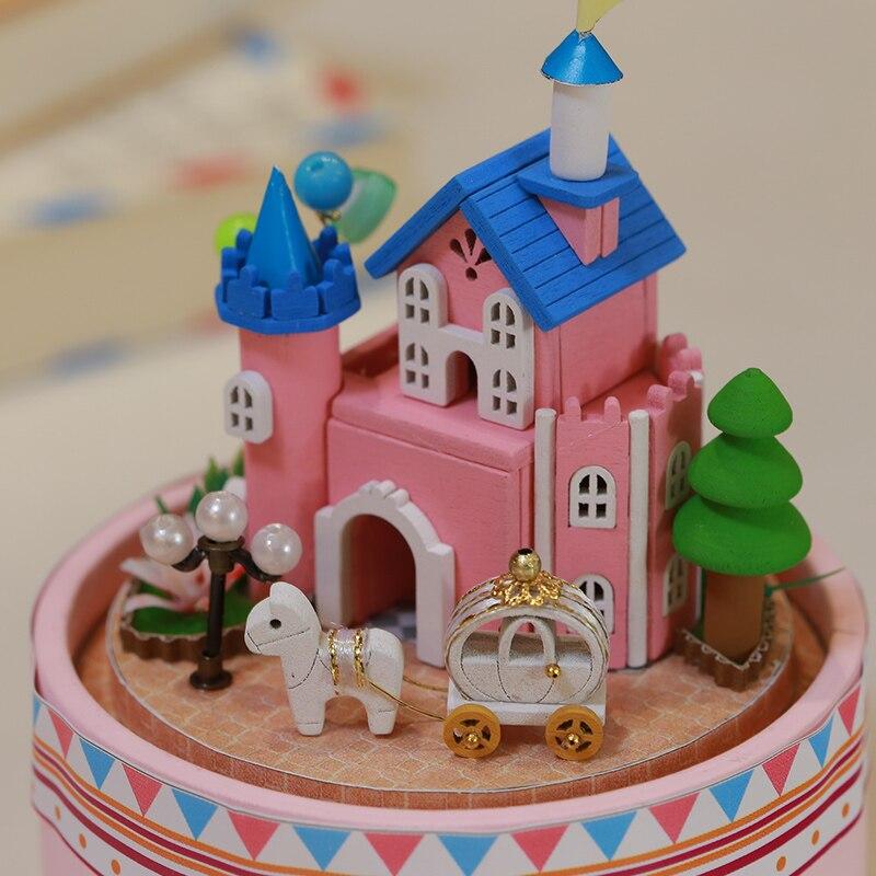 DIY Hear Happiness Glass Ball Dollhouse Mini Castle Building Kits Wooden Furniture Handmade Assembling Miniatura Creative Gift 2
