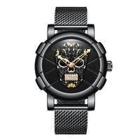 Business steel quartz men's watch punk leisure fashion waterproof wristwatch