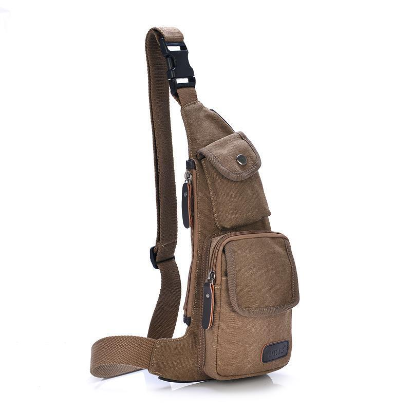 795fc2a554 Cool Outdoor Sports Casual Canvas Unbalance Crossbody Sling Bag Shoulder Bag  Chest Bag for Men on Aliexpress.com