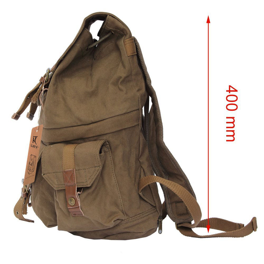 Army Green Canvas DSLR SLR Camera Shoulder Bag Backpack Rucksack ...