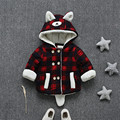 new fashion winter children coat cute plaid cartoon bear baby boys girls outerwear casual 2017 winter kids coat clothing hc007