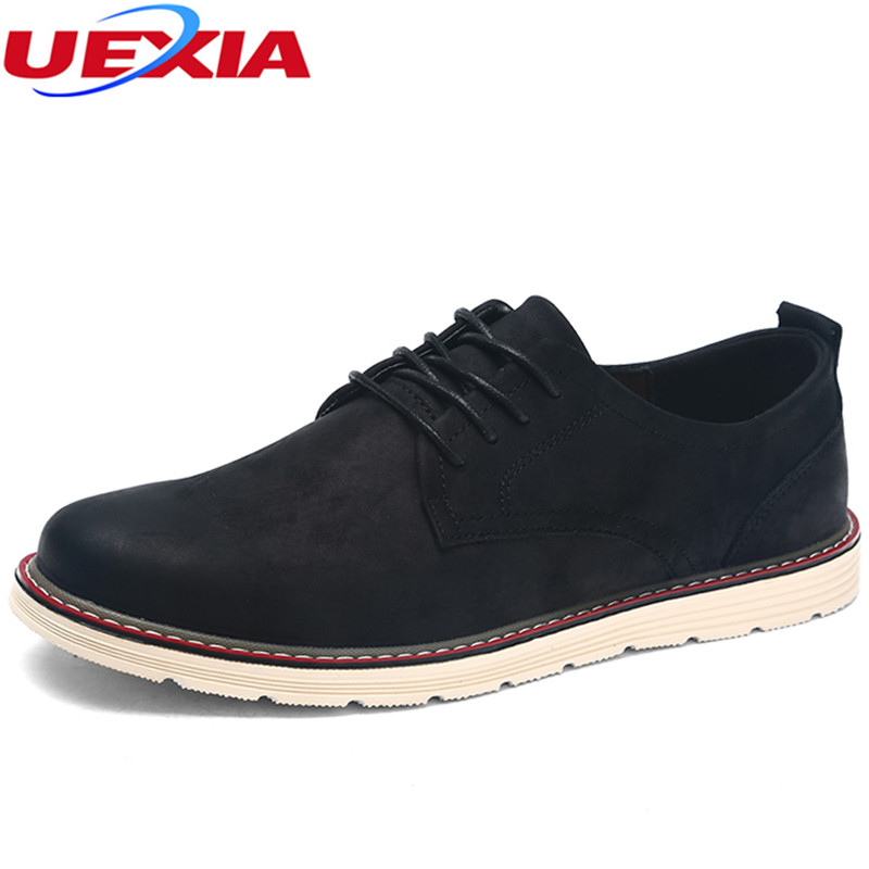 UEXIA New Spring Luxury Brand Mens Black Casual Shoes Flats Breathable Men Shoes Lace-Up Male Sneakers Flats Zapatillas Hombre brand new arrival handmade genuine leather men flats spring fashion lace up brand casual shoes ege breathable leisure shoes men