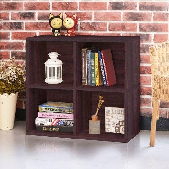Way Basics Eco Friendly 4 Cubby Bookcase Espresso Lifetime Warranty On Aliexpress Com Alibaba Group