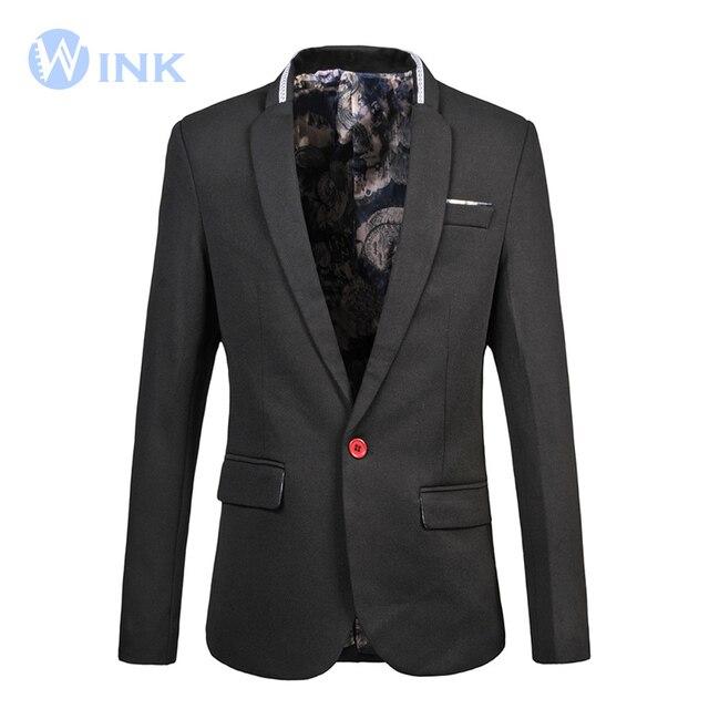 Одна Кнопка Пиджак Пиджак Мужчины Формальная Свадьба Бренд Высокого Мужской моды Пальто Плюс Размер М-5XL Bleiser Homens Masculino Синий J271