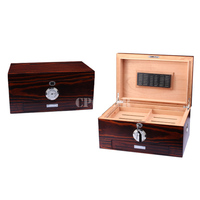 Luxury Collection Cedar Cigar Humidor Case Tobacco Cigarette Storage Box W Lock Wood Tray Drawer Metal