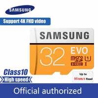 Samsung EVO MicroSD 32GB Scheda di Memoria UHS-I 100 MB/S microSDHC Class10 Carta di TF per Smartphone Tablet etc
