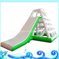 Giant Water Slide For Adult Custom color floating inflatable water slide for lack inflatable slide