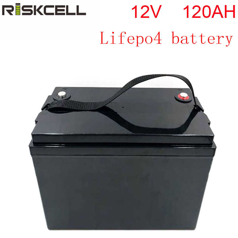No taxes Deep Cycle Rechargeable Lifepo4 12V 120ah Lithium Battery Pack 120ah for Motor Home/Solar RV/camping caravan