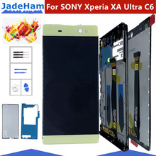 6.0 Original LCD For SONY Xperia XA Ultra Display Touch Screen with Frame For SONY XA Ultra LCD Display F3211 F3212 F3215 F3216 смартфон sony xperia xa ultra золотой лайм f3211ru n