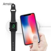 Amstar Airpower Беспроводное зарядное устройство 10 Вт быстрая Беспроводная зарядка для iPhone 11 11Pro XS Max XR X 8 Plus для Apple Watch 5 4 3 2