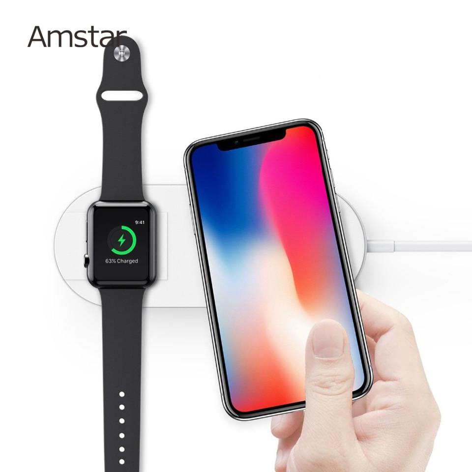 Amstar Airpower Drahtlose Ladegerät 10 W Schnelle Drahtlose Lade Für Samsung S9 S8 Note9 Für Iphone X Xs Max Xr 8 Apple Uhr 4 3 2 1 Handy-zubehör Handys & Telekommunikation
