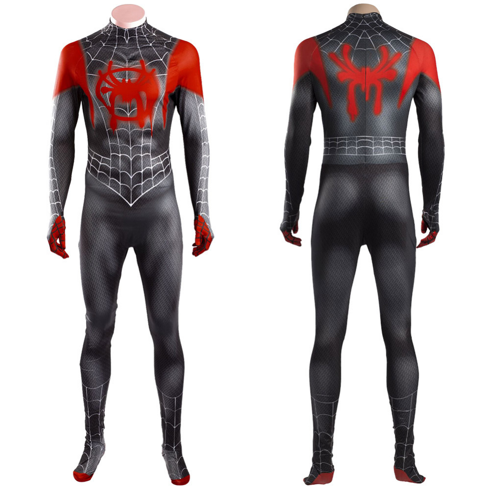 Spider-Man:Into the Spider-Verse Miles Morales Cosplay Costume Suit Uniform For Adult Men Halloween Carnival Costumes
