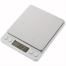 Mini 0.1g Digital Kitchen Scale Stainless Steel Platform Pocket Scale 2kg 3kg with counting function стоимость