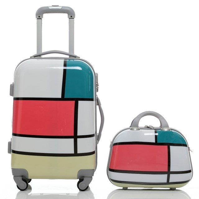 New Fashion Women Travel Bags Trolley Suitcase Aluminium Draw Bar Box Spinner Four Direction Wheels Luggage