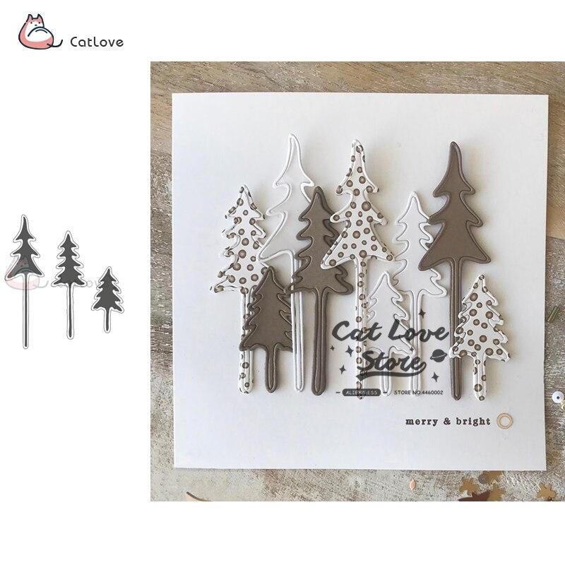 Елочный домик олень, металлические рождественские режущие штампы, трафареты для DIY бумажные карточки для скрапбукинга, ремесленные штампы, ...