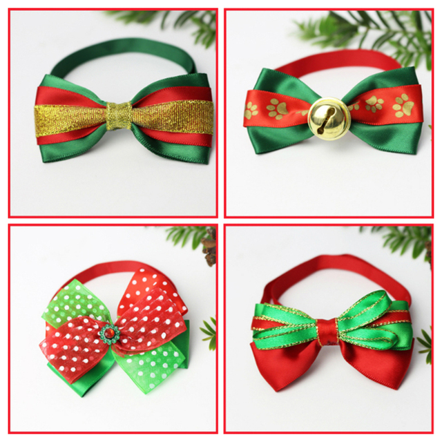 Bow Loverly Bowknot Dog Ties Cute Pet Dog For Puppy Dogs Accessories With Rubber Bands Cute Pet Headwear Grooming