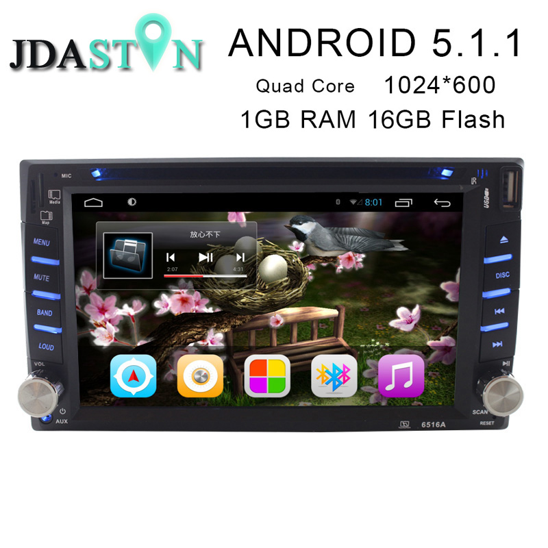 JDASTON 2 Din 6 2 Inch Universal Android 5 1 1 Car DVD Player For Nissan