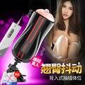 Borracha Bolso Buceta Sexo Feminino 10 Vibração Velocidade de Sucção Pussey Automatic Sex Machine Com Ventosa Masturbador Vagina De Plástico